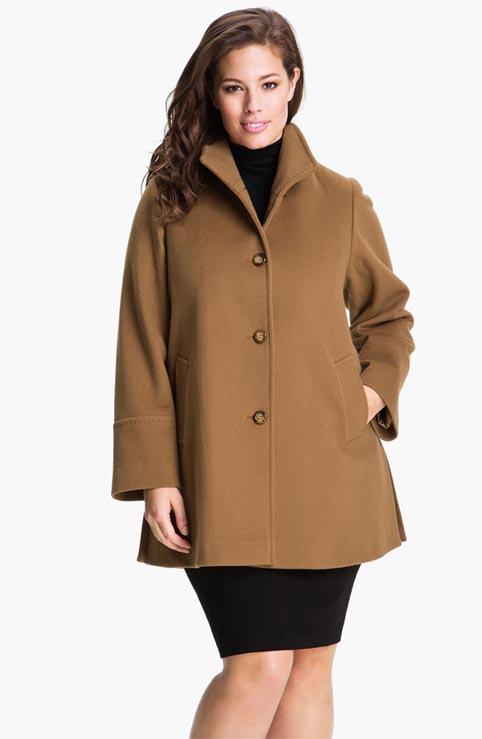 Осеннее пальто для полных женщин