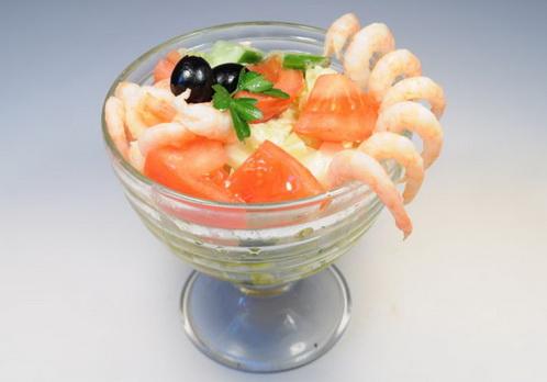 Салат коктейль с креветками. Рецепт приготовления
